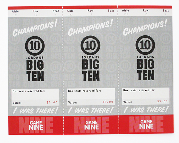 Big Ten Pub Ticket Stub Gift Cards
