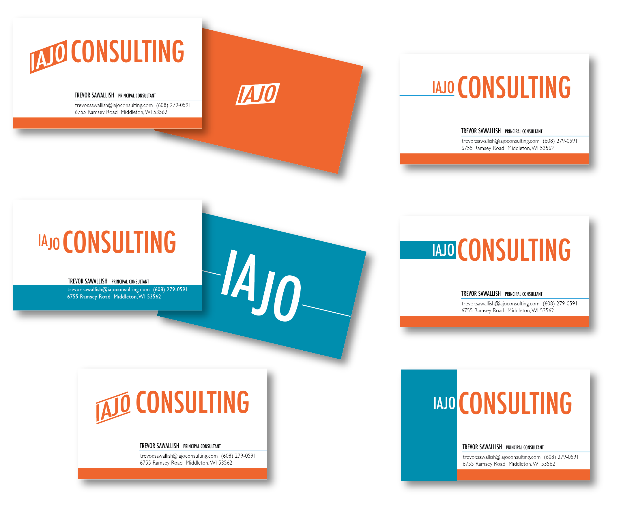 Iajo Consulting logo and business cards