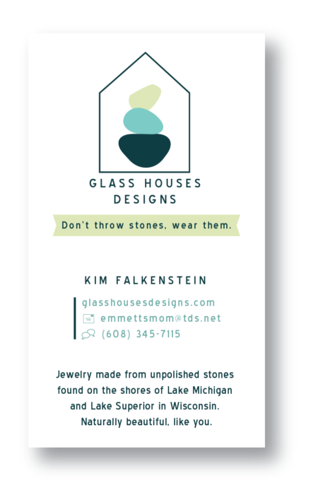 Business card and logo for local artist