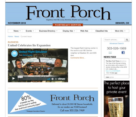 Front Porch Newspaper
